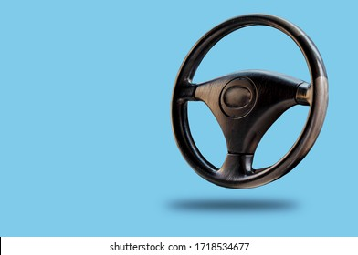 Car steering wheel, leather covered, button technology