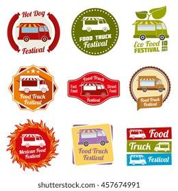 Car street food festival color labels
