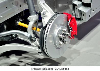 Car suspension with disc brake.