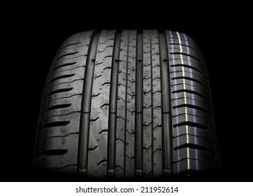 Car Tire isolated on black