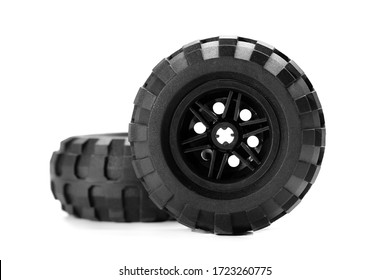 Car tire isolated on white background. Truck tire isolated.