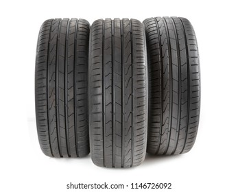 Car tires isolated on a white background