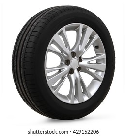 car tires on a white background