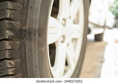 car tires scrape broken dangerous maintenance