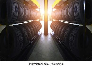 Car tires service.