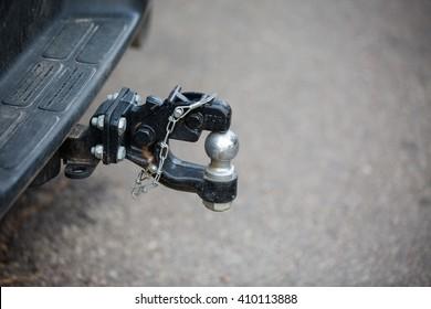 car tow hitch close up