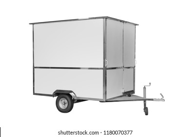 car trailer isolated on white background