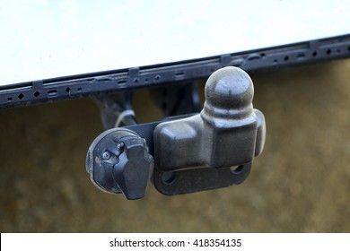 car trailer tow hitch and electrical connection