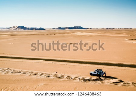 Image of: Sandstorm Car With Travelers In The Egyptian Desert Shutterstock Car Travelers Egyptian Desert Stock Photo edit Now 1246488463