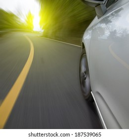 Car traveling on a curve