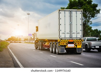 Car truck driving on road,Car on highway road transportation