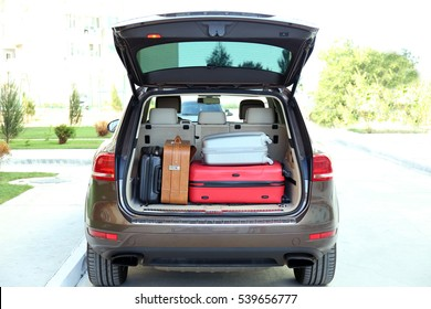 Car trunk with baggage
