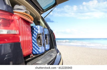 car trunk and summer time