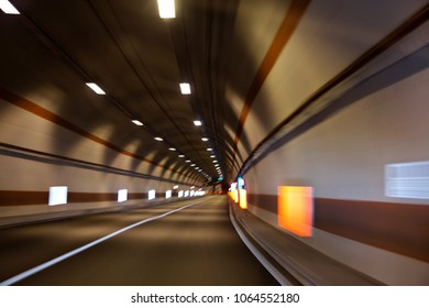 Car tunnel motion blur