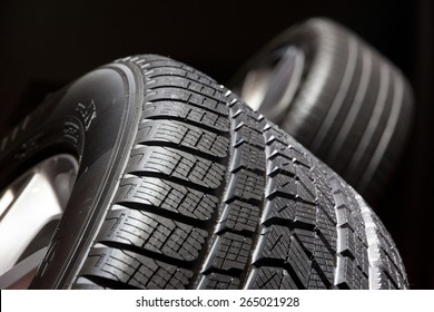 Car tyre close up
