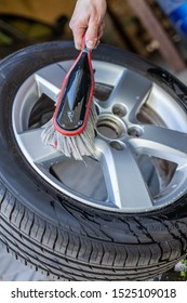 car tyres with brush wash