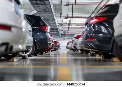 car in underground parking lot