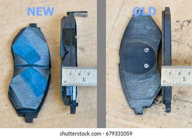 A car used brakes pads and new brakes pads
