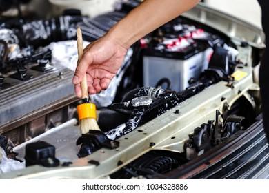 Car washing cleaning engine,Cleaning car using Horse brush