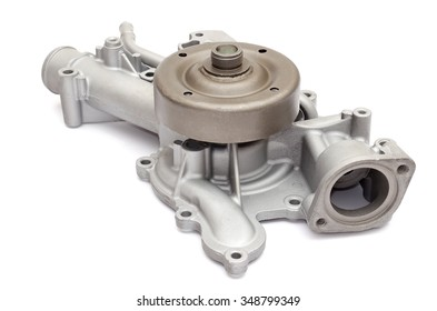 Car water pump on a white background