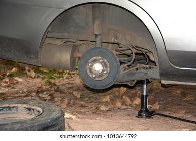 Car with a wheel