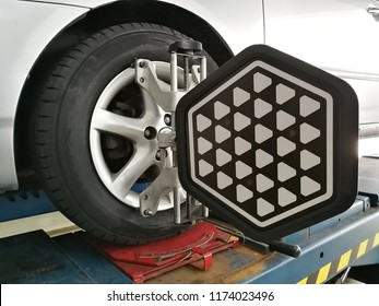 Car wheel with Balancing center in the garage