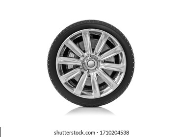 Car wheel isolated on a white background. - Shutterstock ID 1710204538
