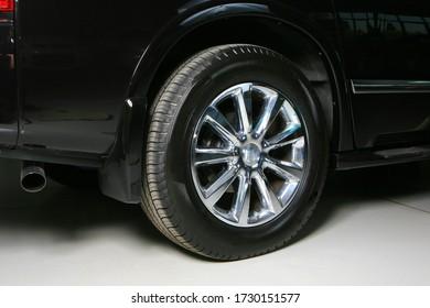 car wheel shot close up