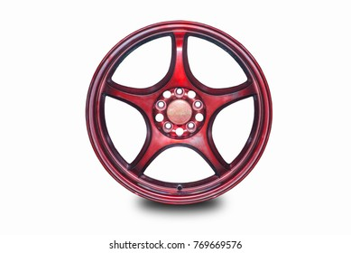 Car wheels Separated from the white background.