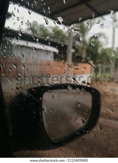 Car window Water flow