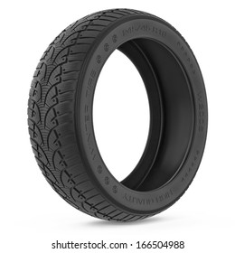 Car winter tire. Isolated on white background