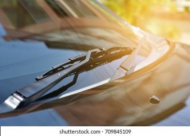 Car wiper.Black car wiper