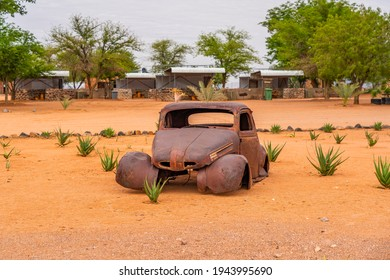 Car wreck in the Namib Naukluft National Park at Betta, Namibia, Africa