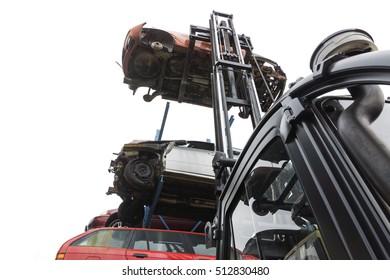 car wrecks at the junkyard