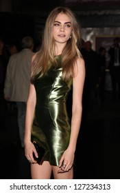 Cara Delavigne arriving for the British Fashion Awards 2012 at the Savoy Hotel, London. 27/11/2012 Picture by: Alexandra Glen