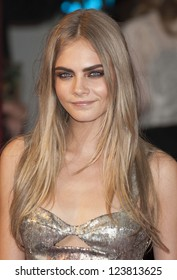 Cara Delevigne arriving the UK premiere of Anna Karenina at Odeon Leicester Square, London. 05/09/2012 Picture by: Alexandra Glen