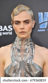 Cara Delevingne at the World premiere of 'Valerian And The City Of A Thousand Planets' held at the TCL Chinese Theatre in Hollywood, USA on July 17, 2017.