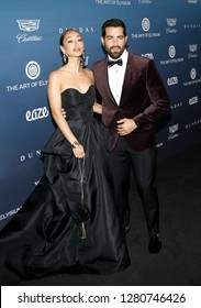 Cara Santana and Jesse Metcalfe at the Art Of Elysium's 12th Annual Heaven Celebration held at the Private Venue in Los Angeles, USA on January 5, 2019.