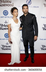 Cara Santana and Jesse Metcalfe at the Art Of Elysium's 9th Annual Heaven Gala held at the 3LABS in Culver City, USA on January 9, 2016.