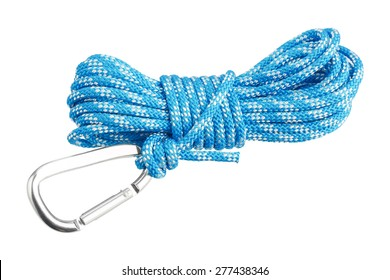 Carabiner attached to rope