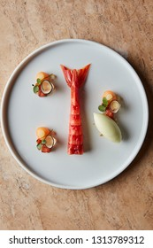 Carabinero prawn with savoury ice cream