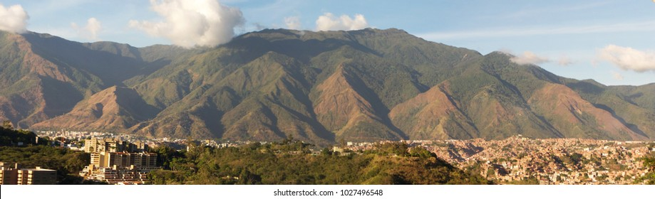 Caracas capital city with majestic El Avila mountain Venezuela