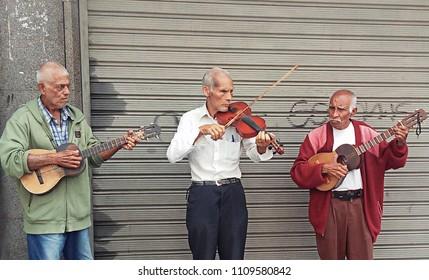 Caracas, Capital District / Venezuela - 02 02 2018: Street Musicians in Caracas