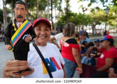 Caracas, Venezuela, August 10th, 2018. Pro Chavez/ Maduro rally.