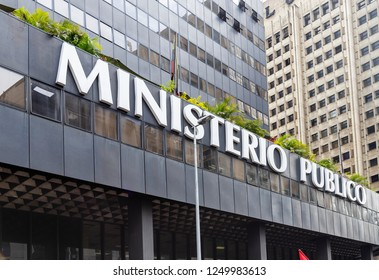 CARACAS, VENEZUELA – AUGUST 21, 2018: Building of the Public Ministry of Venezuela at city downtown. The Public Ministry of Venezuela is under the direction of the Prosecutor General of the Republic