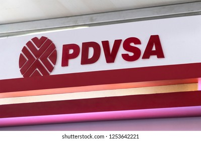 CARACAS, VENEZUELA- DECEMBER 1st, 2018: PDVSA sign; Petroleos de Venezuela, S.A. (PDVSA), founded in 1976, is the Venezuelan state-owned oil and natural gas company
