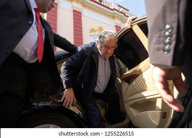 "Caracas (Venezuela) Jul 05, 2011. The President of Uruguay, José ""Pepe"" Mujica, arrival to Caracas, Venezuela, on official visit in july 05, 2011."