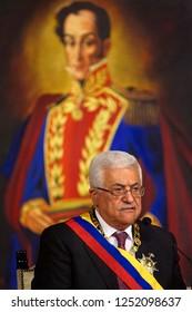 Caracas (Venezuela) Nov. 27, 2009. The  Palestinian National Authority, Mahmoud Abbas photo of the official visit as to Caracas on November, 2010. Photo/Harold Escalona