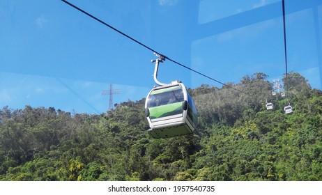 CARACAS, VENEZUELA - Nov 29, 2017: teleferico, waraira repano o cerro el avila