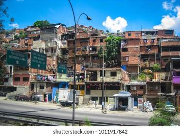 CARACAS, VENEZUELA - OCTOBER 6, 2008: Slums of Caracas